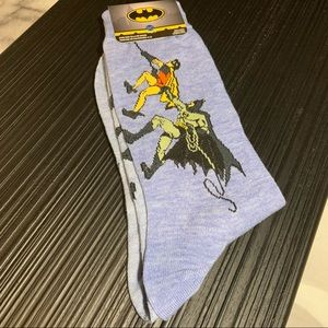 DC Comics' Licensed Batman & Robin Crew Socks